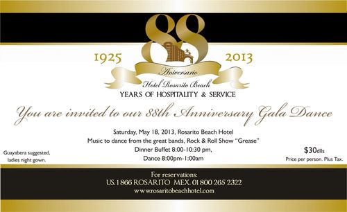 88 ANNIVERSARY INVITATION